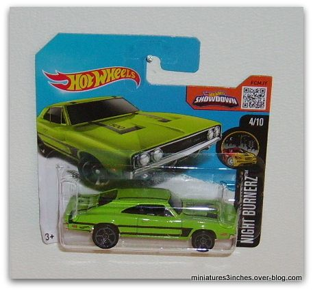 '69 Dodge Charger 500 by Hot Wheels.