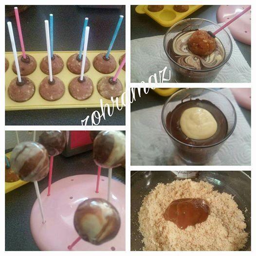 Cakepops marbrés