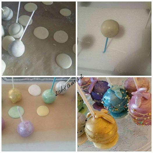 Cakes pops nacrés