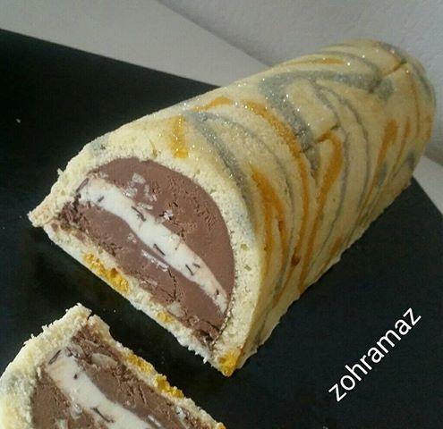 Buche glacée choco/vanille
