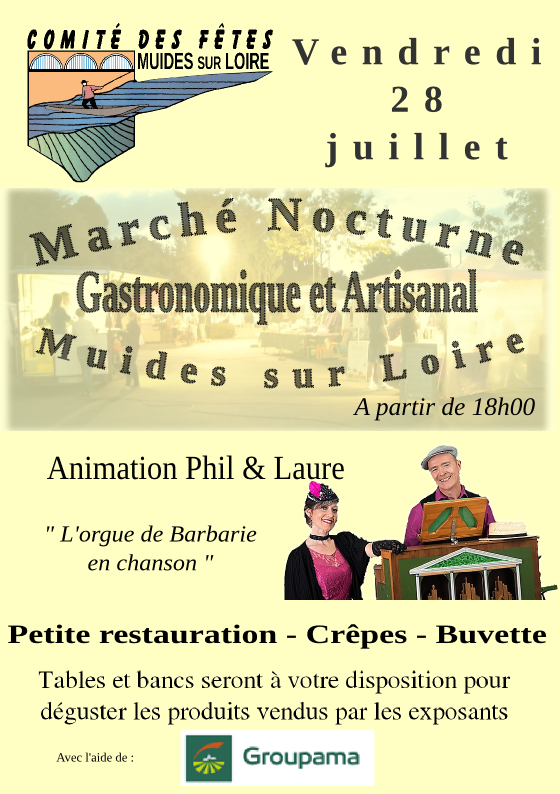 MARCHé Nocturne à Muides sur Loire (41)