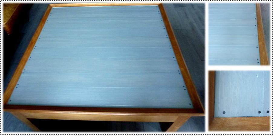 Opération relooking table basse ...