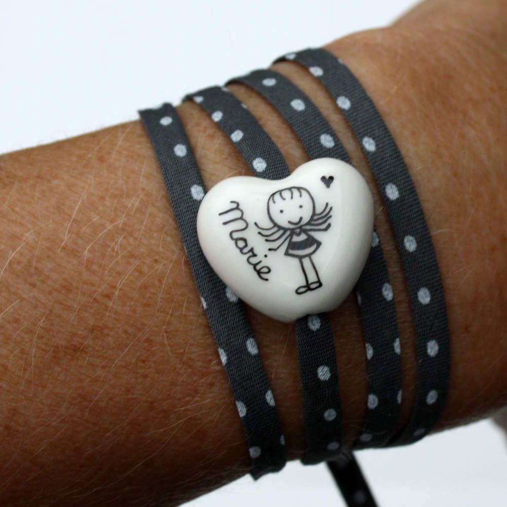 bracelet personnalisé céramique porcelaine