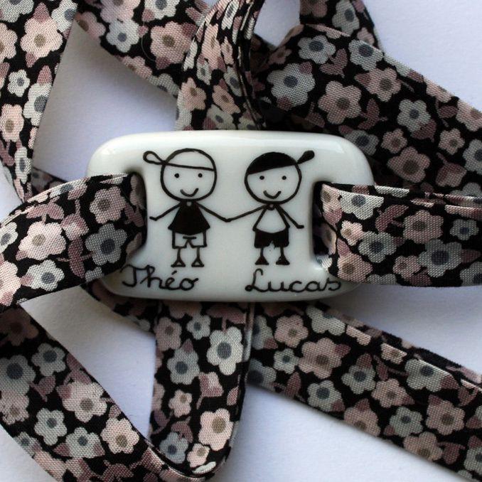 Bracelet personnalisé en porcelaine Claudia Ladriere