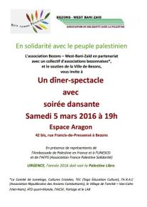 Le L.A.B.' toujours solidaire avec ceux qui luttent pour un état palestinien.