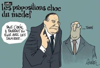 GATTAZ, VALLS, MACRON, EL KHOMRI ont proposé à  Hollande de faire travailler les enfants dans les mines (réouvertes) à partir de 8 ans. Hollande y  réfléchit. Emmanuelle Cosse n'est pas d'accord ...de réouvrir les mines.