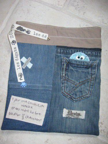 sac en jean pour petit homme