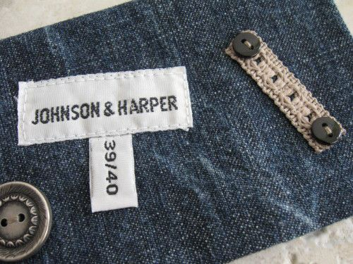 porte chéquier en jean recyclé