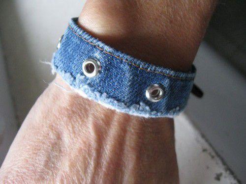 ourlets de jeans recyclés en bracelets