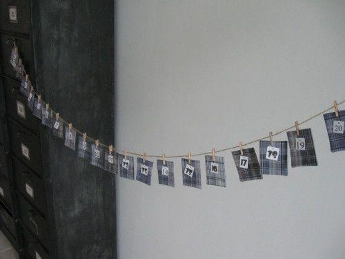 calendrier de l'avent en textile recyclé