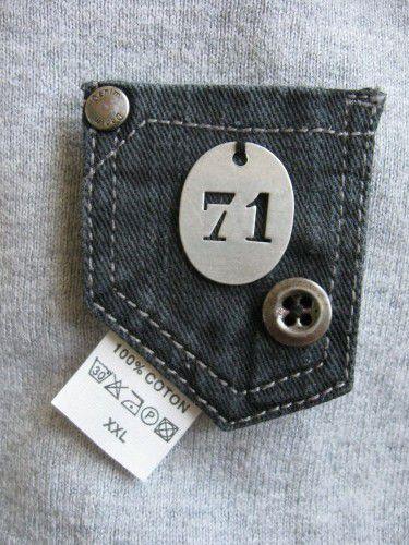 Broches en jeans recyclé