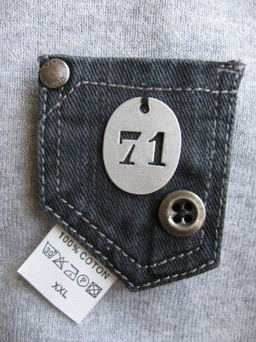 broches en jeans recyclé