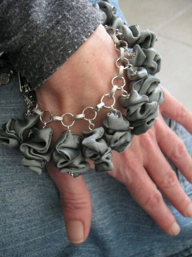 bracelets lampions en doublure recyclée