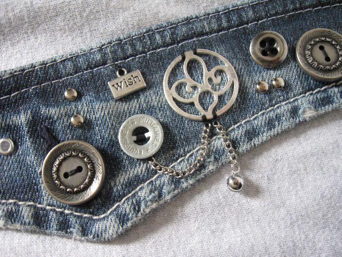 Bracelets en jeans recyclé