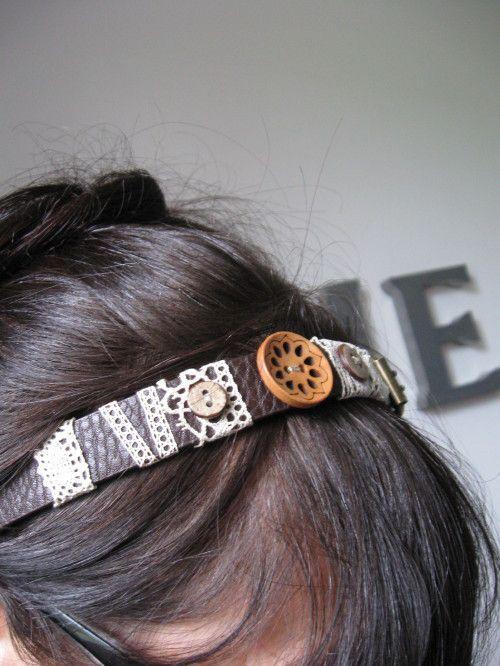 Ceintures recyclées en headband