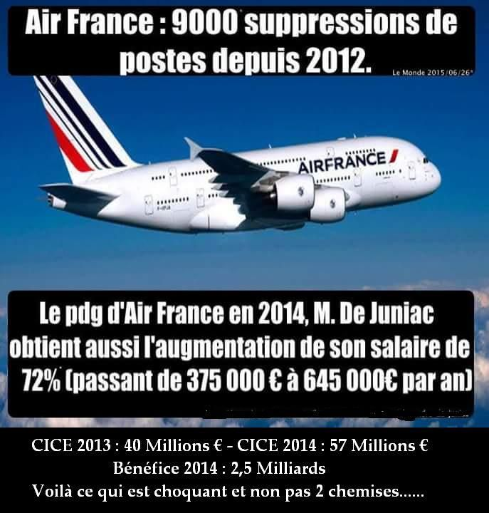 Air France : et si on parlait d'autre chose que des chemises ?