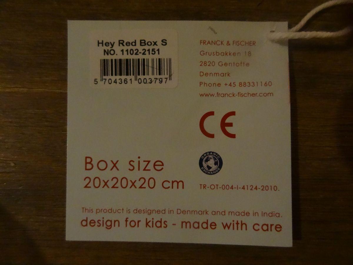Test Franck &amp&#x3B; Fischer : Les boîtes de rangement en coton bio