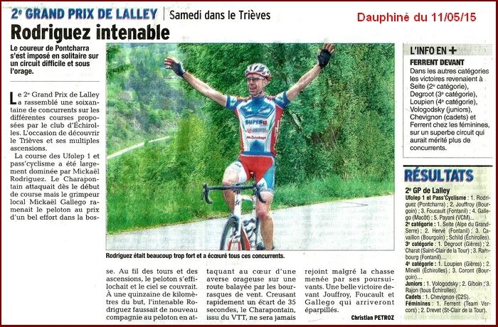 Article Dauphiné Lalley