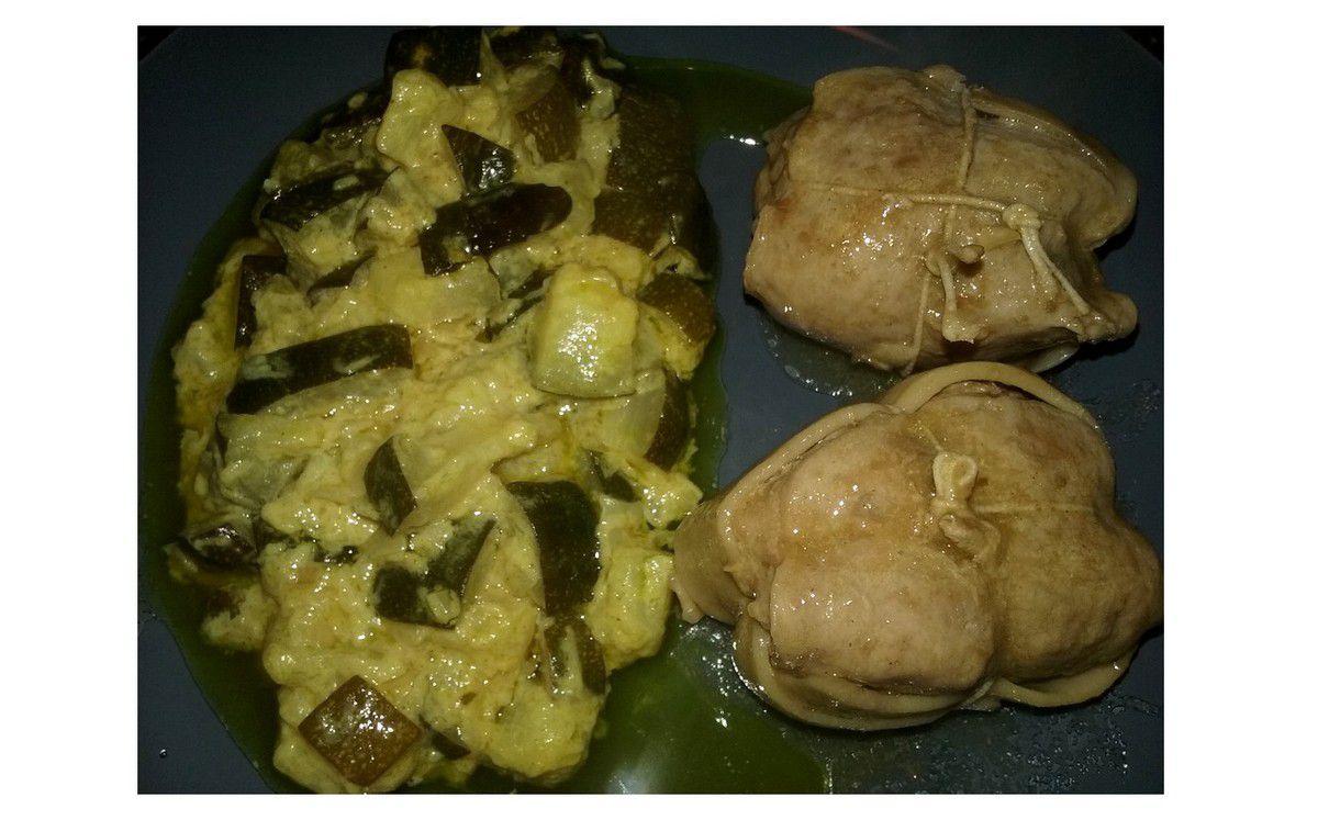 Paupiettes de veau avec courgettes à la poêle