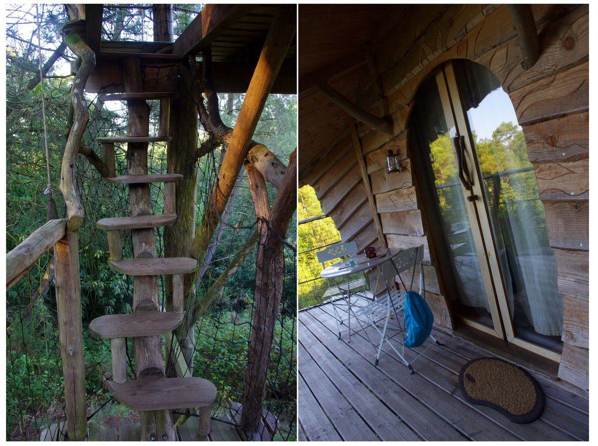 Bretagne - Dormir dans une cabane dans les arbres au Pertuis du Rofo