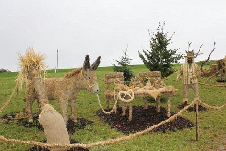 Sculptures de pailles