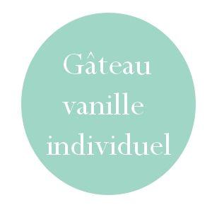 Gâteau à la vanille individuel extra moelleux