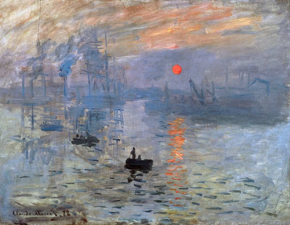 Claude Monet, Impression, soleil levant, 1872 - Musée Marmottan Monet, Paris