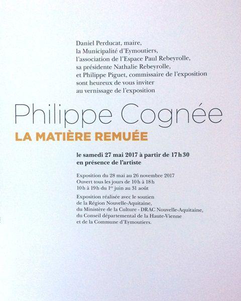 Eymoutiers (87),  Espace Paul Rebeyrolle, commissariat de l'exposition &quot&#x3B;Philippe Cognée, la matière remuée&quot&#x3B;, vernissage ce soir, samedi 27 mai 2017, à 17h30... exposition jusqu'au 26 novembre 2017...