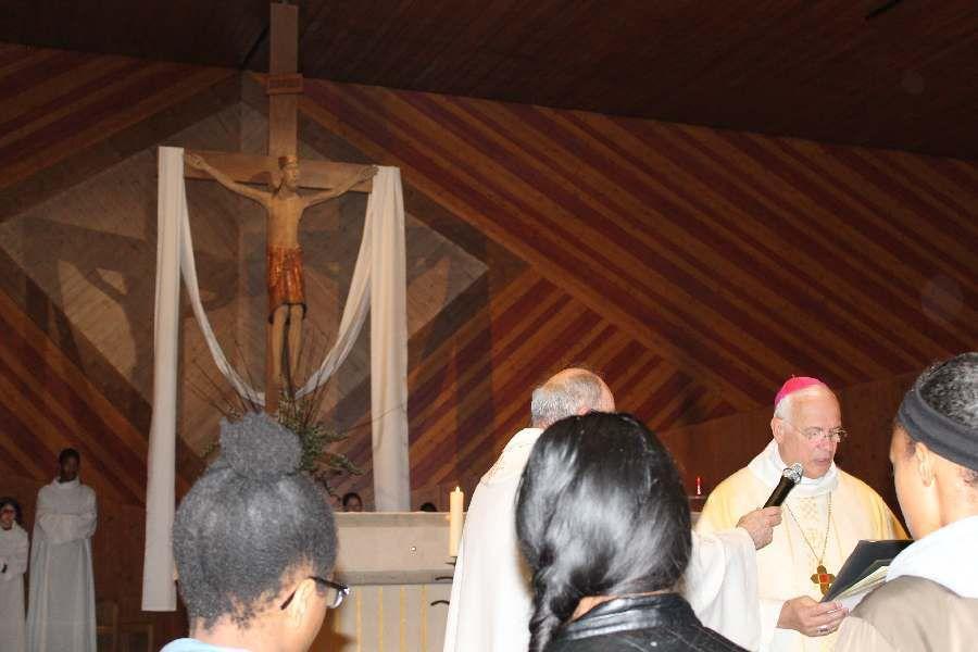Rencontre à Deuil la Barre avec Mgr St.Lalane