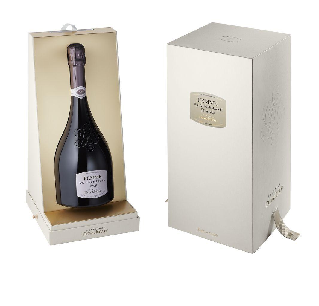 Un packaging très soigné pour un champagne d'exception par Duval-Leroy.
