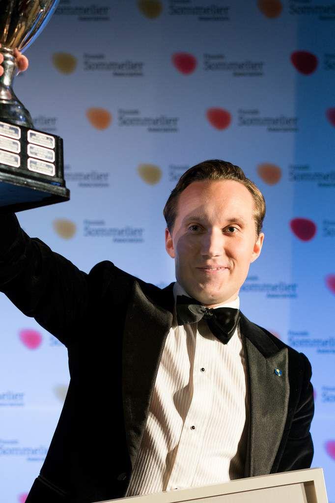 Fredrik Lindfors offre un nouveau titre à la sommellerie suédoise. Photo Kiril Kainulainen