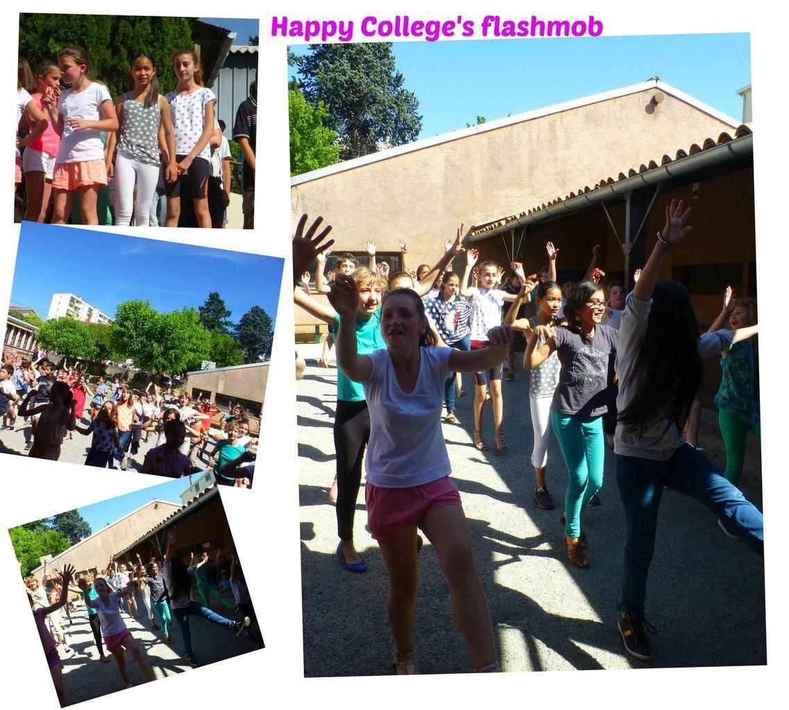 et parmi les moments réussis de cet après-midi : la super flash mob avec tous les élèves (300), la démonstration de cirque (avec trois supers copines) et la prestation chorale qui a bien failli nous faire fondre tant il faisait chaud !