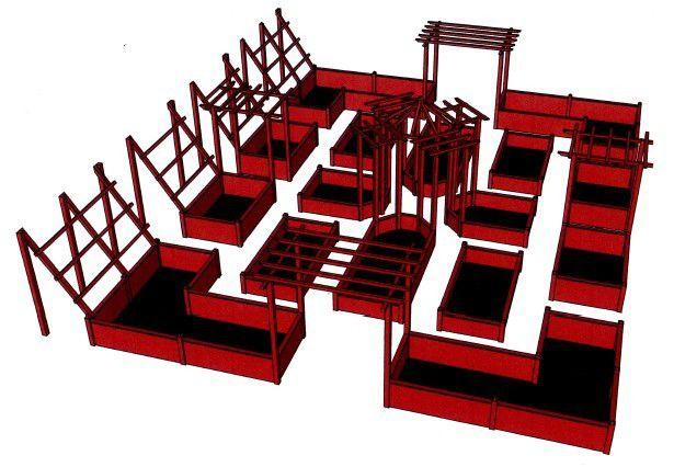 Merci à Géry Delannoy pour ce plan en 3D