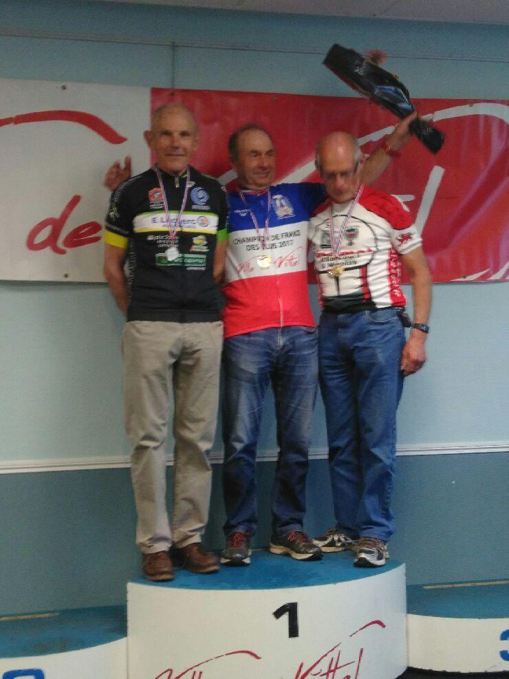 Daniel Boudet, médaille d'argent du championnat de France VTT des élus, chez les 70 ans et plus.