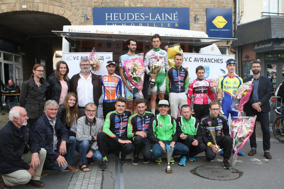 Daniel Boudet et le podium du GP d'Avranches