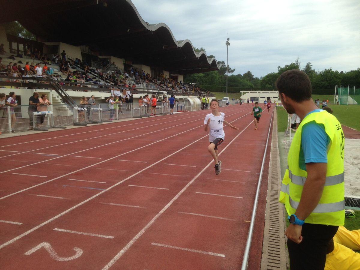 Championnat académique d'athlétisme à Talence.