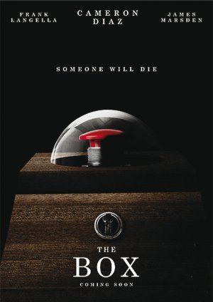 """Poster du film """"The box"""" représentant symboliquement la Terre plate sous son dôme du firmament..."""