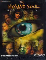 """Pochette du jeu The Nomad Soul par le studio français """"Quantic Dream"""". Œil unique."""