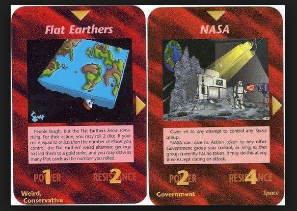 "Cartes du jeu ""Illuminati""."
