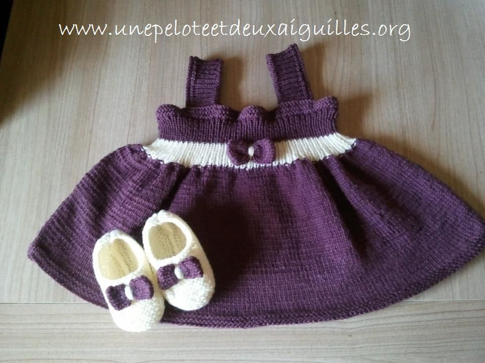 Tricoter une robe 3/6 mois