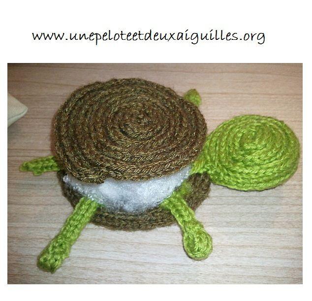 Faire une tortue au tricotin