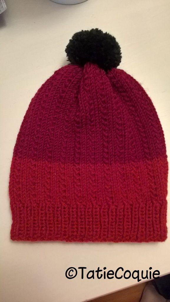 007cd6f5c8c62 Tricoter un bonnet enfant 3 à 7 ans au point de graminée - Une ...