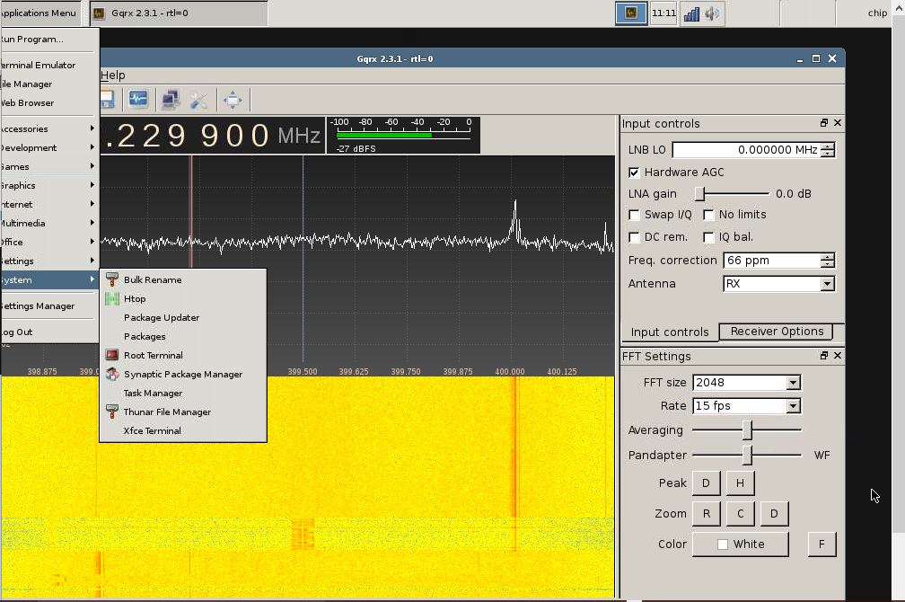 CHIP microPC  et Clef USB RTL-SDR