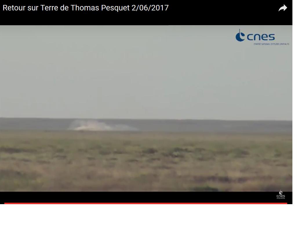 Arrivée sur Terre de l'astronaute Normand Thomas Pesquet et de son coéquipier Oleg Novitski