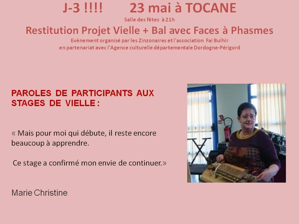 J-3 POUR TOCANE!!!! PAROLES DE VIELLEUX