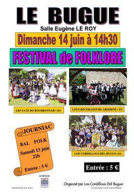 Festival Folklorique samedi 13 juin et dimanche 14 juin 2015.