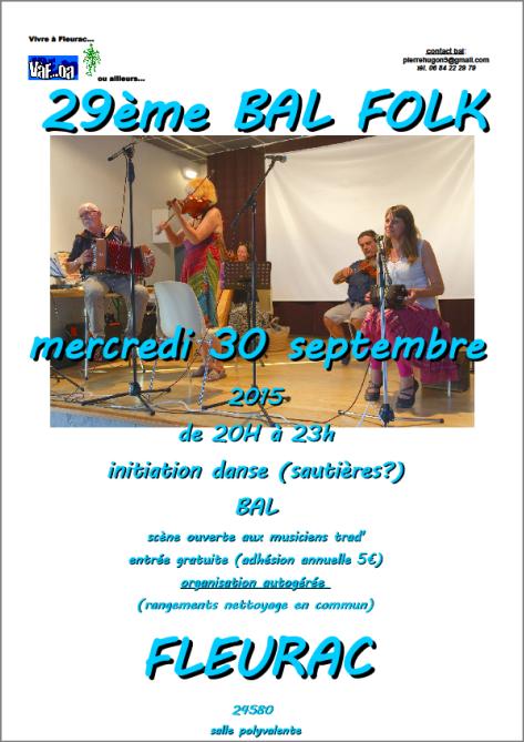 On danse à Fleurac le 30 septembre!