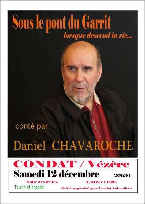 DANIEL CHAVAROCHE A CONDAT / VÉZÈRE LE 12 DÉCEMBRE