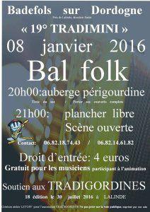 8 janvier 2016 bal trad à Badefols sur Dordogne