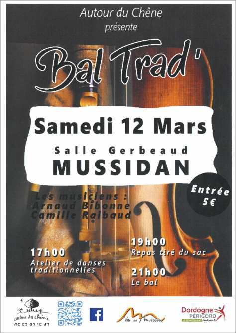 MUSSIDAN ...12 MARS.... STAGE ET BAL TRAD
